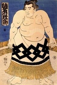 Le rikishi Masanosuke Inagawa représenté par Kuniyoshi Utagawa en 1845