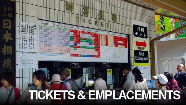 Tickets et emplacements