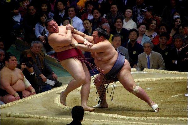 Oshidashi de Toyonoshima contre Endô