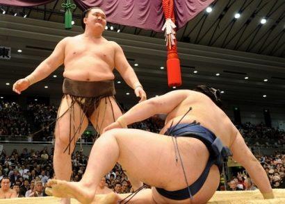 Hakuho après sa victoire sur Goeido