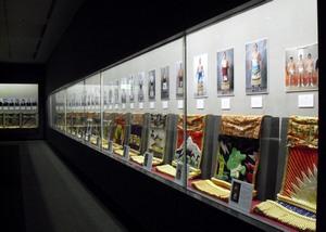 Vitrine d'exposition au musée du sumo