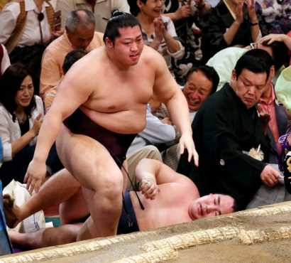 Endo après sa victoire sur Kakuryû