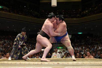 Hakuhô de nouveau premier après sa victoire contre Kotoshogiku