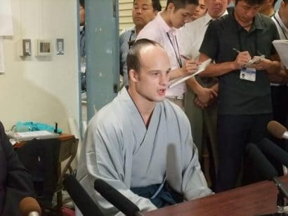 Takanoyama en conférence de presse