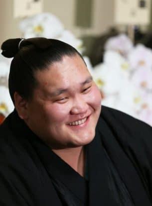 Terunofuji en conférence