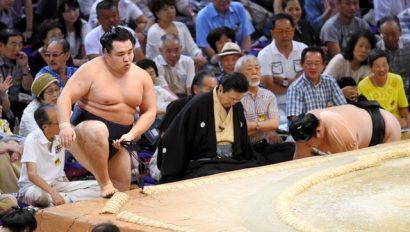 Le duo de yokozuna domine toujours, Kakuryu vainqueur sur Ikioi