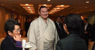 Yokozuna Hakuho, un sumo supporter d'un poids lourd