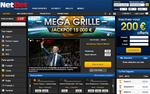 netbet interface