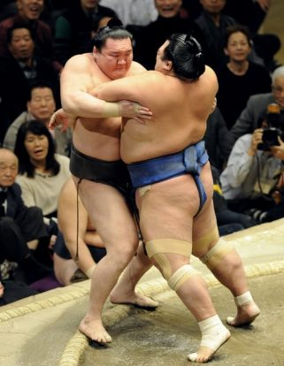 Kotoshogiku en tête du tournoi