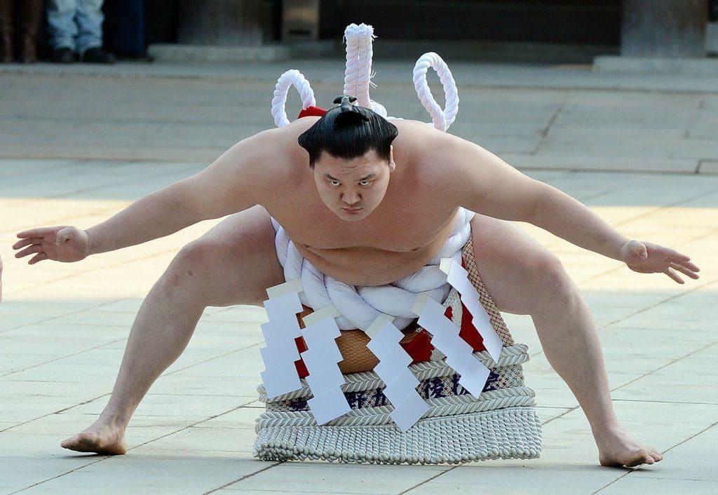 Le yokozuna Hakuho est le rikishi le plus titré de l'histoire du sumo