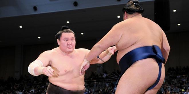 J12 – Hakuho reste talonné par Hokutofuji et Okinoumi