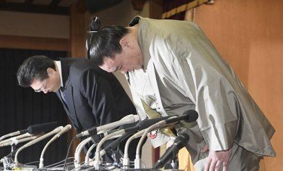 Harumafuji : la conférence de presse de son intai