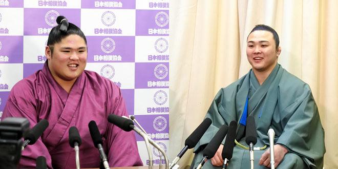 Takayoshitoshi et Enho promus en juryo