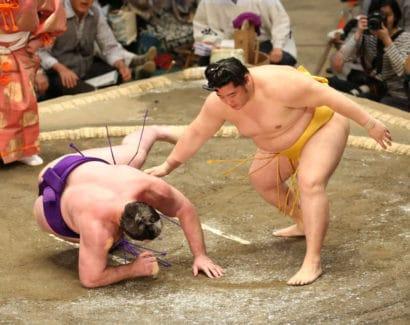 Endo fait chuter Tochinoshin