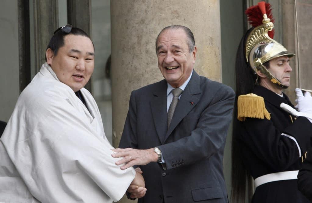 Jaques Chirac avec Asashoryu