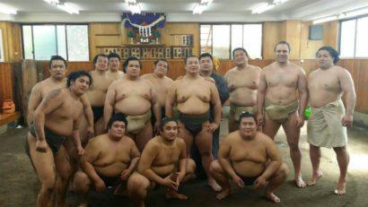 Les lutteur de Onomatsu beya (photo personnelle d'Amuru)