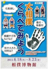 Affiche exposition sur les comparaisons dans le sumo