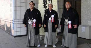 Miyabiyama avec Fujishima oyakata