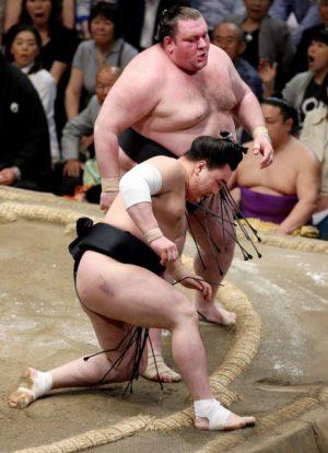 Gagamaru remporte son premier kinboshi contre Harumafuji