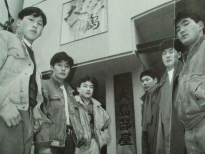 Les mongols de la Oshima beya avec à gauche Kyokutenho