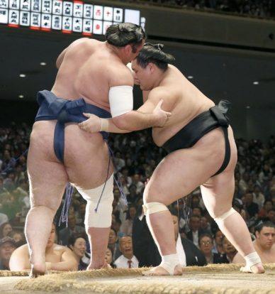Terunofuji désormais seul en tête après sa victoire sur Tochinoshin