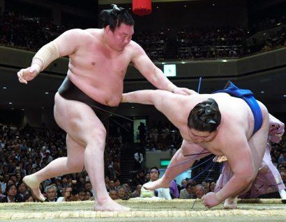 Hakuho et Kisenosato restent invaincus