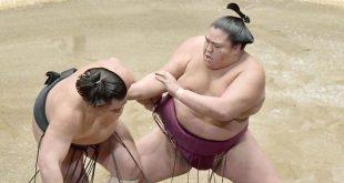 Mitakeumi contre Harumafuji