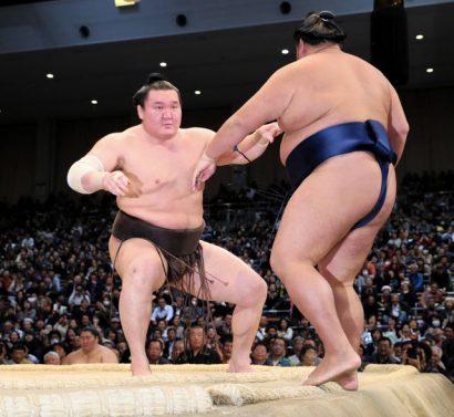 Hakuho reste talonné par Hokutofuji et Okinoumi