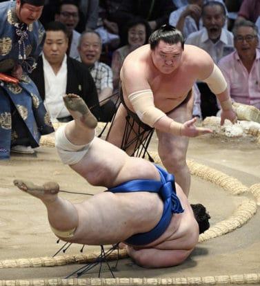 Les yokozuna maintiennent leur cap