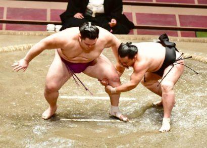 Asanoyama pris à la jambe par Terutsuyoshi